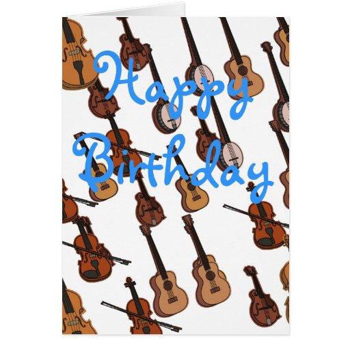 Musician birthday card