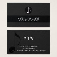 Musician Black Business Card With Music Note at Zazzle