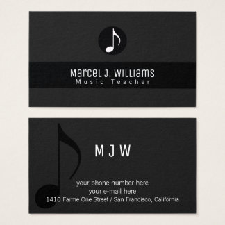 Music Business Cards Music Business Card Templates - Music business card template