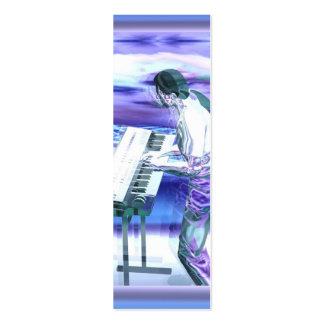 Musician Blues - Skinny Mini Business Card