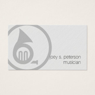 Musician Bold French Horn Icon Music Business Card