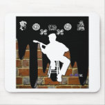 MUSICIAN BRICK BACKGROUND PRODUCTS MOUSEPAD