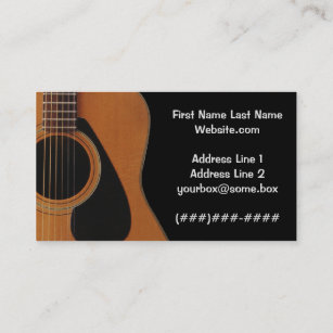 Musician business cards zazzle musician business card reheart Images