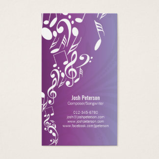 Musician Business Card Music Notes Upflow