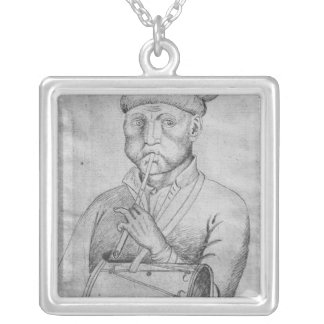 Musician, from the The Vallardi Album Silver Plated Necklace