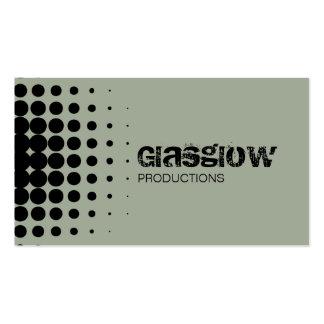 Musician Grunge Halftone Slate Gray Business Card