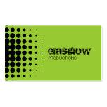 Musician Grunge Light Green Business Cards