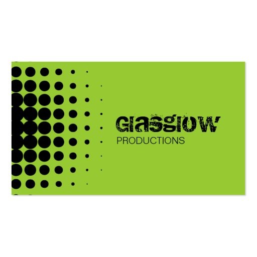 Musician Grunge Light Green Business Cards
