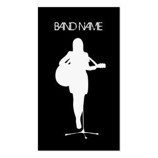 Musician Guitarist Singer Band Artist Female Business Card