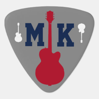 musician (guitarman) initials personalized guitar pick