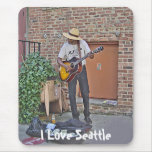 Musician in Alley Mouse Pad