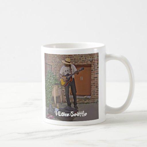Musician in Alley Mug
