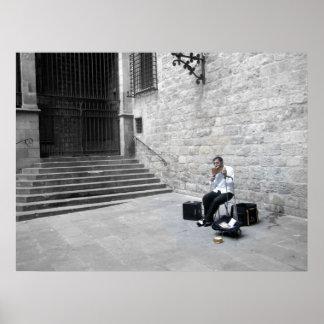 Musician in Barcelona Poster