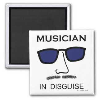 Musician In Disguise Fridge Magnets