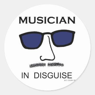 Musician In Disguise Sticker