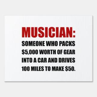 Musician Joke Sign