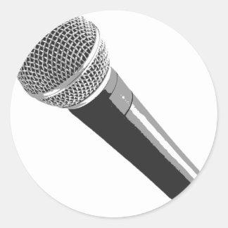 Musician Microphone Classic Round Sticker