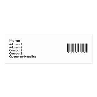 Musician Mini Business Card