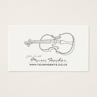 Musician/Music Teacher Business Card