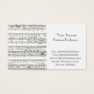 musician, music tutor business card