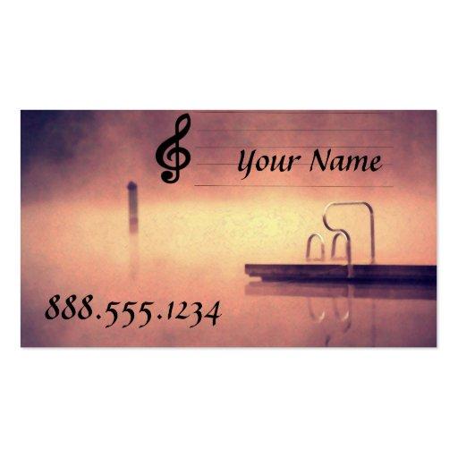 Musician name business card templates