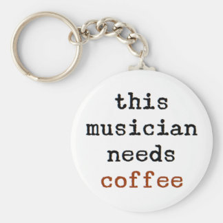 musician needs coffee keychain