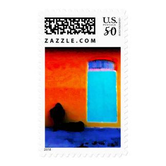 """""""Musician Obscured"""" JTG Art Postage Stamp"""