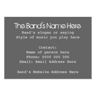 Musician or Band Business Cards with Skull. Custom