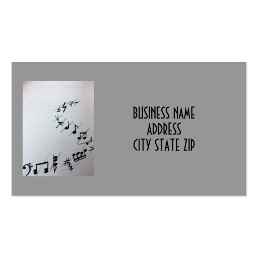 MUSICIAN OR MUSIC SHOP BUSINESS CARD