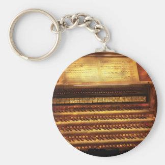 Musician - Organist - The Pipe Organ Basic Round Button Keychain