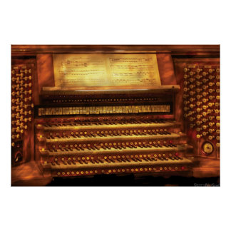 Musician - Organist - The Pipe Organ Poster