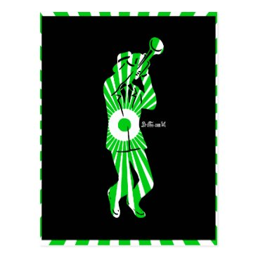 Aztec Themed MUSICIAN  OTOMI AZTEC DRCHOS.COM CUSTOMIZABLE PRO POSTCARD