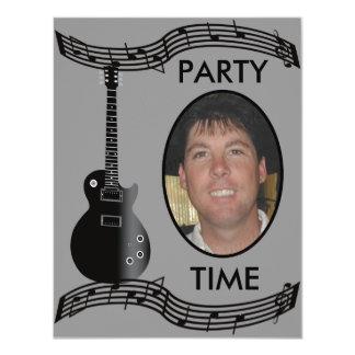"Musician Party Celebration Add A Photo 4.25"" X 5.5"" Invitation Card"