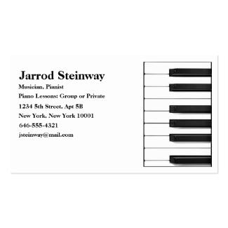 Musician/Pianist Business Card