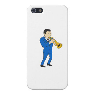 Musician Playing Trumpet Cartoon iPhone SE/5/5s Case