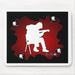 MUSICIAN RED BACKGROUND PRODUCTS MOUSEPADS