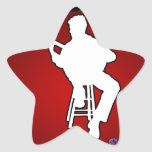 MUSICIAN RED BACKGROUND PRODUCTS STAR STICKER