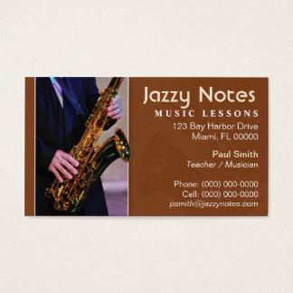 Musician – Saxophone Business Card