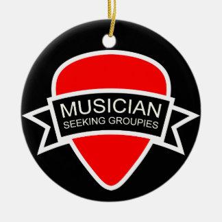 Musician Seeking Groupies Christmas Ornament