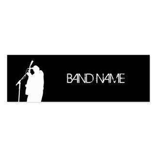 Musician Singer Band Artist Gold Star Publicity Double-Sided Mini Business Cards (Pack Of 20)