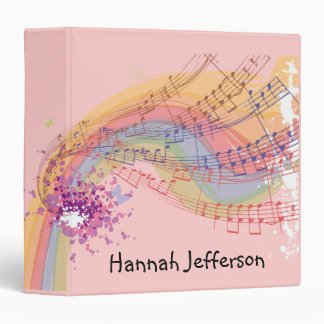 Musician Singer Personalized Music Book 3 Ring Binder
