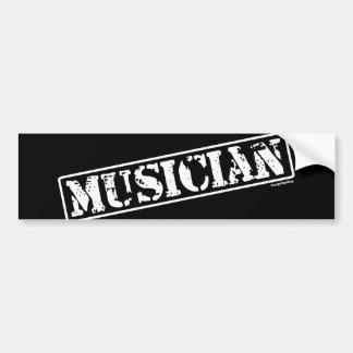 Musician Stamp Bumper Sticker