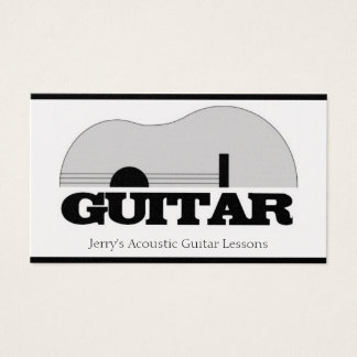 Musician Teach Guitar Lessons Musical Instruments Business Card