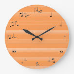 Musician time clock - orange and white