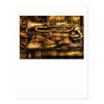 Musician - Two horns and a Violin Postcard