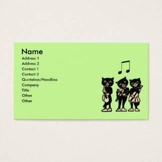 Musician Vintage Black Cats Business Card