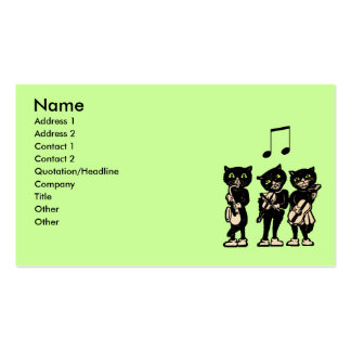 Musician Vintage Black Cats Business Card Templates