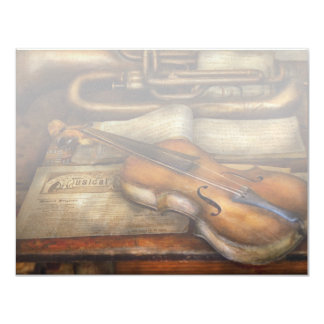Musician - Violin - Played it's last song 4.25x5.5 Paper Invitation Card