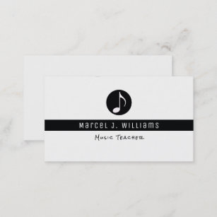 Musician business cards zazzle musician white business card with music note colourmoves