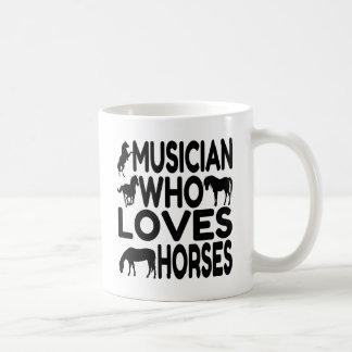 Musician Who Loves Horses Coffee Mug